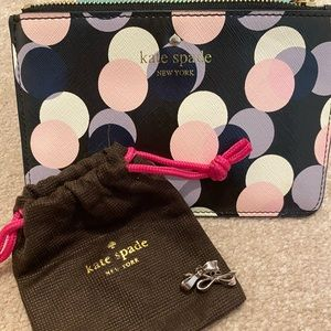 KATE SPADE WRISTLET AND BOW EARRINGS